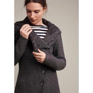 NWT Anthropologie Wool Asymmetrical Sweater Coat
